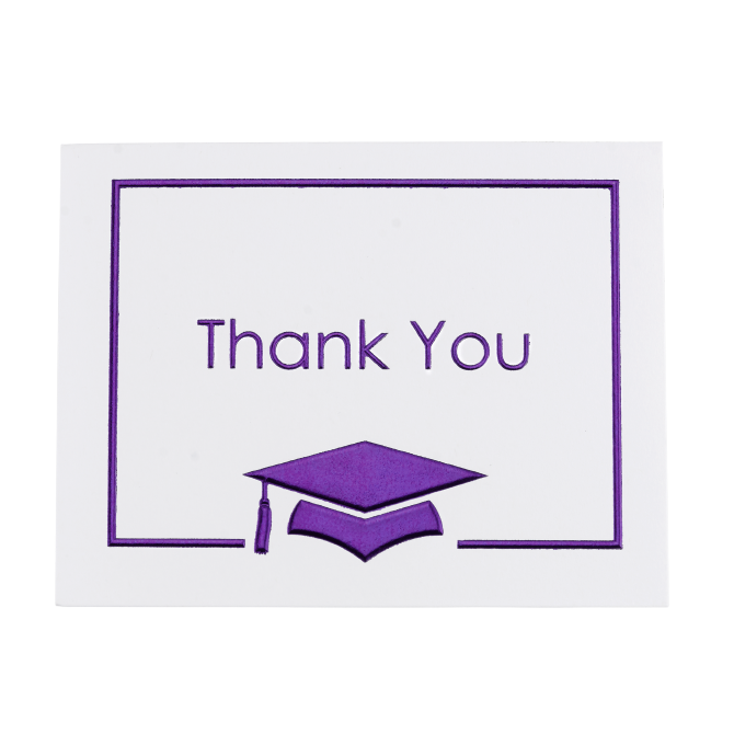 25 Purple Thank You Notes