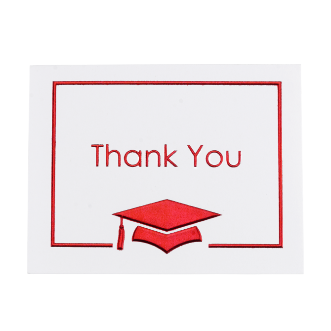 25 Red Thank You Notes